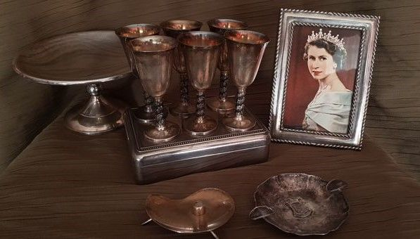 ashtray,picture frame,box,liqueur cup, cake shit.. - Collection of 13 - Silver plated - France - 1800,1900