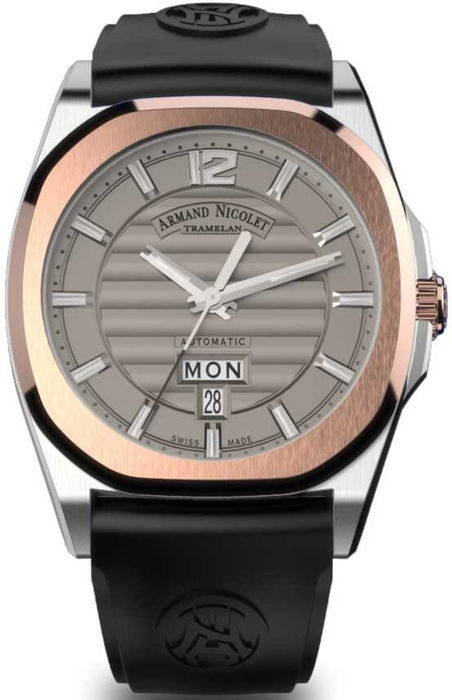 Armand Nicolet - J09 Day & Date Automatic - D650AAA-GR-GG4710N - Heren - 2011-heden