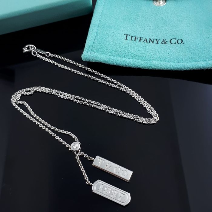 Tiffany - 18 karaat Goud - 1837 diamanten halsketting - 0.10 ct Diamant