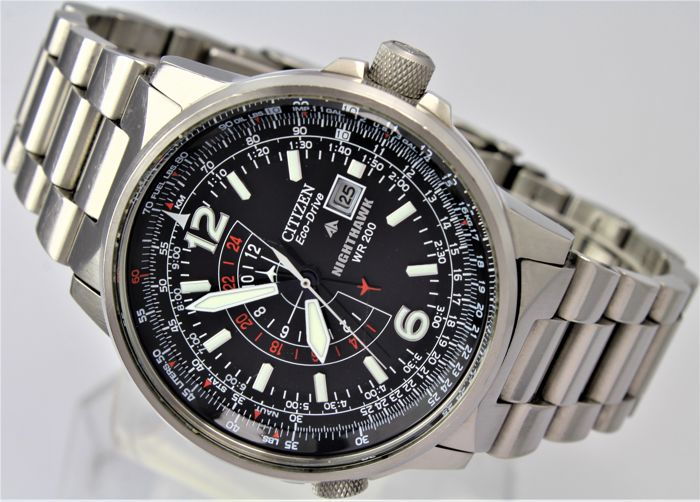 """Citizen - Nighthawk WR 200 ECO Drive """"NO RESERVE""""  - B877-S099722 Mint Condition - Box & Papers - Hombre - 2011 - actualidad"""
