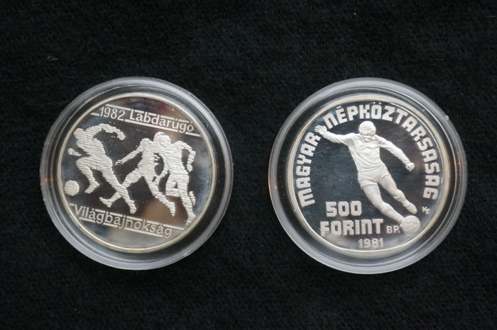Hungary - 500 Forint 1981 'World Football Championships' (2 - Silver