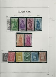 45dfdec7f0c Bélgica - collection between 1946-1951 on Davo album pages