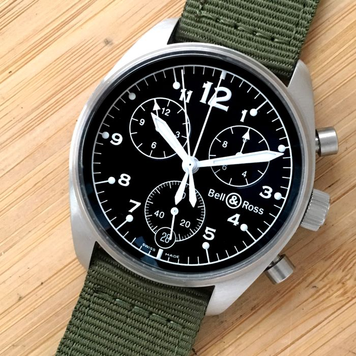 Bell & Ross - Vintage 120 Chronograph  - Ref. 120-A-S15799 - Heren - 2000-2010