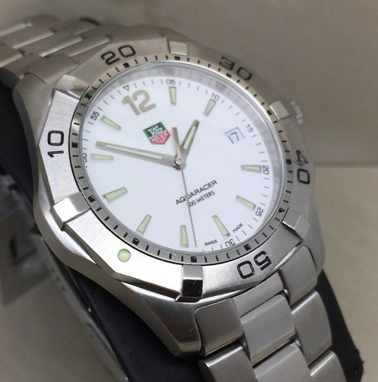 """TAG Heuer - Aquaracer- White'' Classic Swiss ''NO RESERVE PRICE"""" - Ref.Waf1111 - Hombre - 2000 - 2010"""
