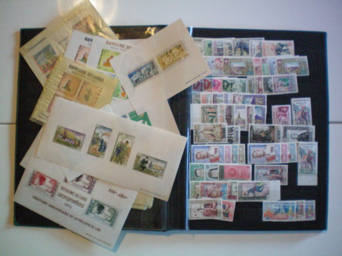 Kambodscha und Laos 1951/1960 - Collection of stamps and blocks