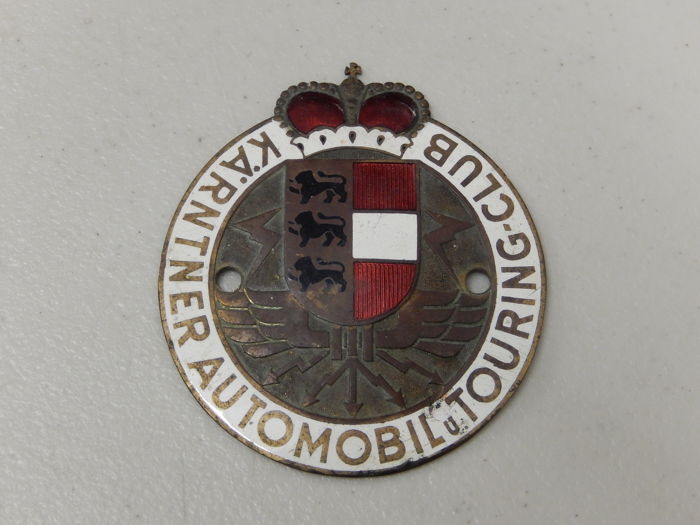 Emblema - Karntner Automobil Touring Club Austria Car Badge - 1960-1970