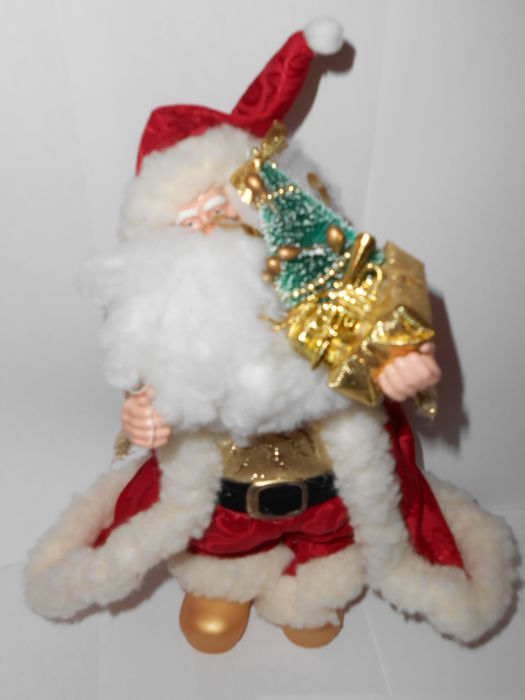Santa claus with music box with a Christmas melody - Resin/Polyester