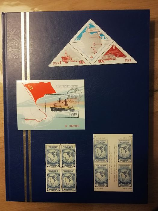 World - collection Antarctic - expeditions and research