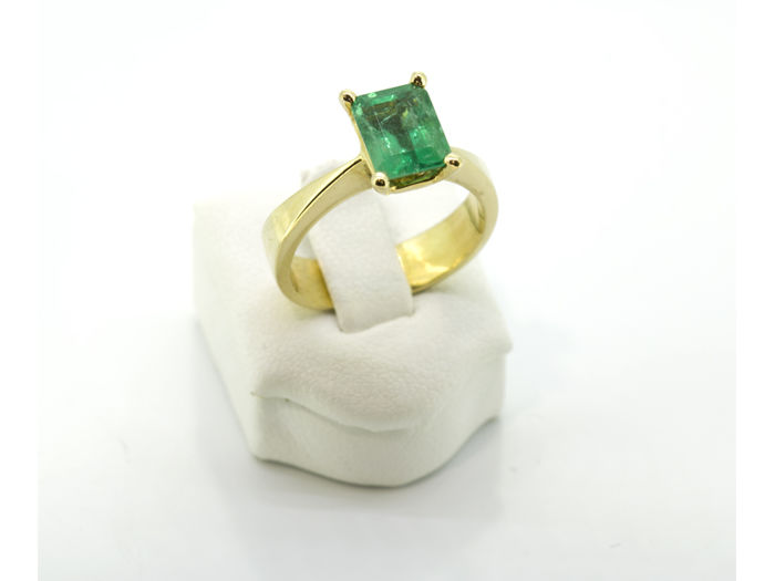 18 karaat Goud - Ring - 2.05 ct Smaragd