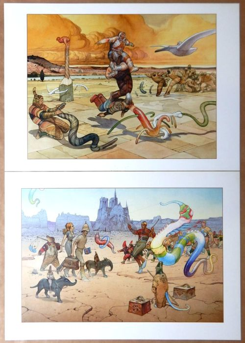Moebius - Bestiaire + Major Grubert 2 grandes affiches