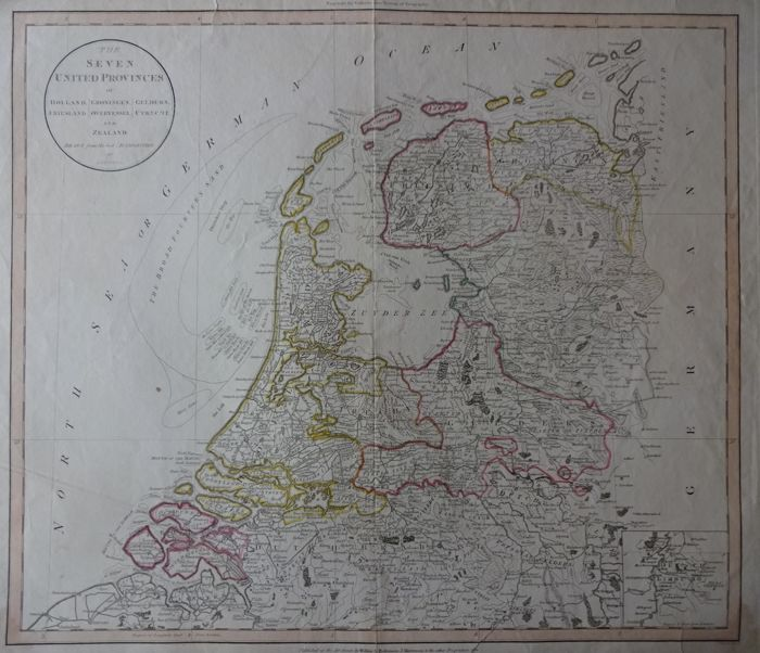 Paesi Bassi; Russel / Wilkie & Robinson - The seven United Provinces of Holland (...) - ca.1810