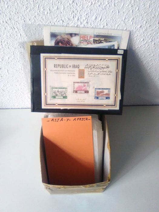 Africa and Asia. 1890/1965 - Box with classics in envelopes