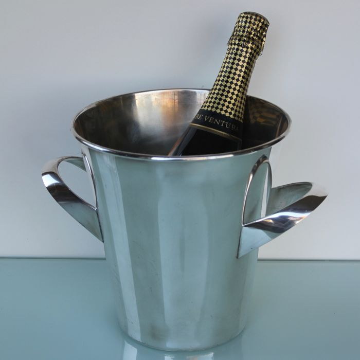 Art Deco champagne wine cooler. - Silver plated - WMF - Germany - 1900-1949
