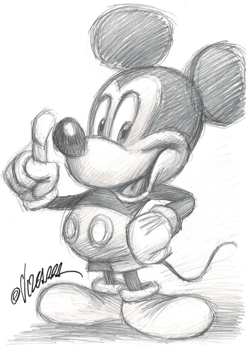 Mickey Mouse - Original Drawing - Joan Vizcarra - First edition