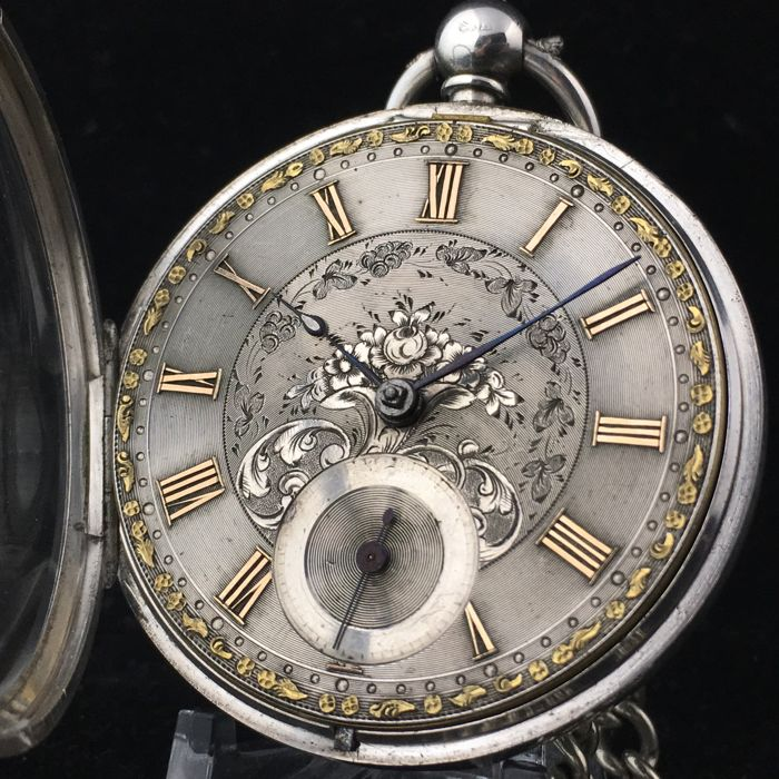 Silver Fusee Pocket watch - Hombre - 1854
