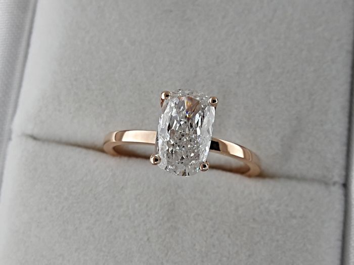Ring - Pink gold - Commonly treated - 1.5 ct - Diamond