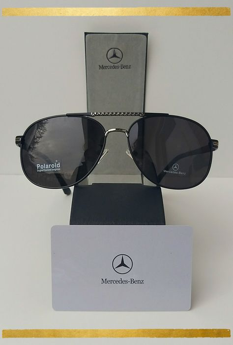 ad75924530e Mercedes Benz Black-Silver Aviator - Sunglasses - Catawiki