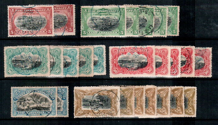 Belgian Congo 1894/1950 - Collection of stamps