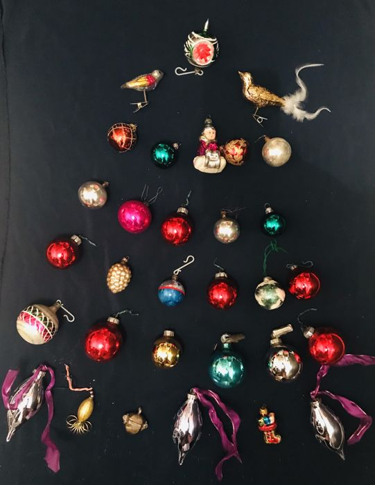 Old Christmas balls in blown glass - Glass