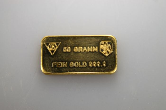 50 grams 999 minted gold bar by Schone B.V
