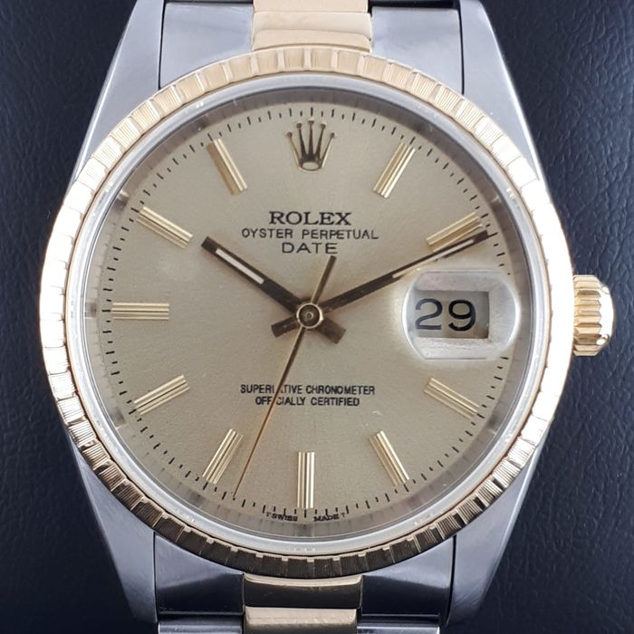 Rolex - Oyster Perpetual  DateJust Gold & Steel - Men - 2000-2010