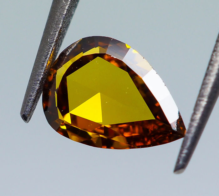 Diamante - 0.34 ct - Pera - Giallo - VS1