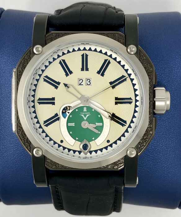 Visconti - Automatic GMT Limited Edition Mecca Black PVD - W102-04-122-10 - Heren - NEW