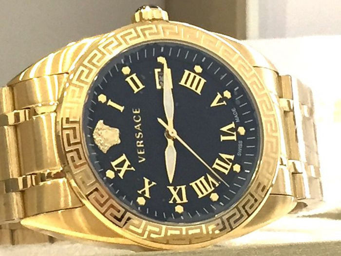 "Versace - "" NO RESERVE PRICE "" VFE160017 V Sport II - Black and Gold  - Nuovo - Garanzia - Men - 2011-present"