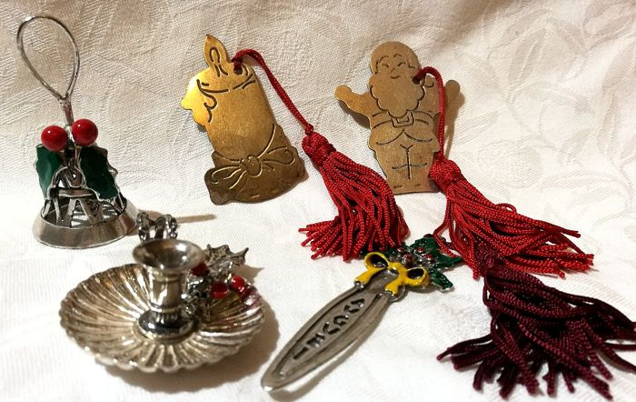 5 nice Christmas-themed silver objects - Collection of 5 - Silver - Italy - 1950-1999