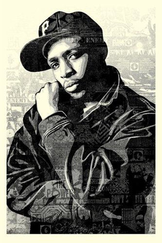 Shepard Fairey (OBEY) - Chuck D Black Steel (Large Format - Black)