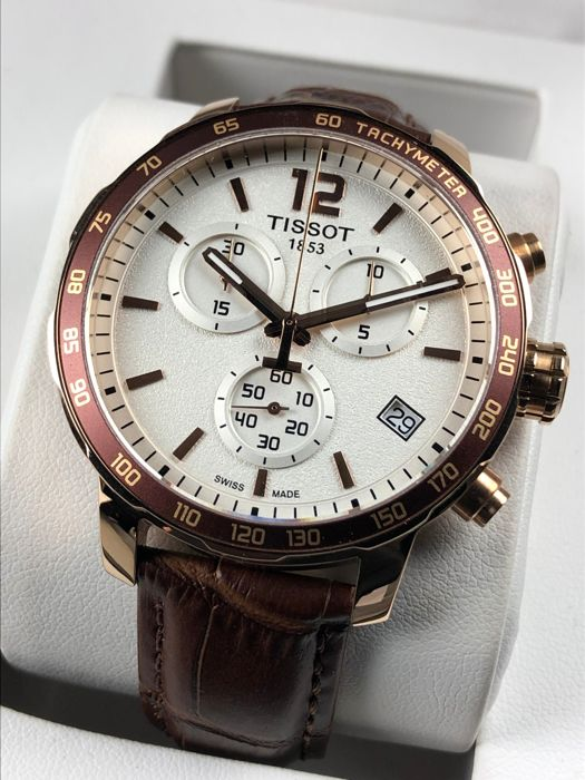 """Tissot - Quickster T-sports Chronograph Gold - """"NO RESERVE PRICE"""" - T095417A - Hombre - 2011 - actualidad"""