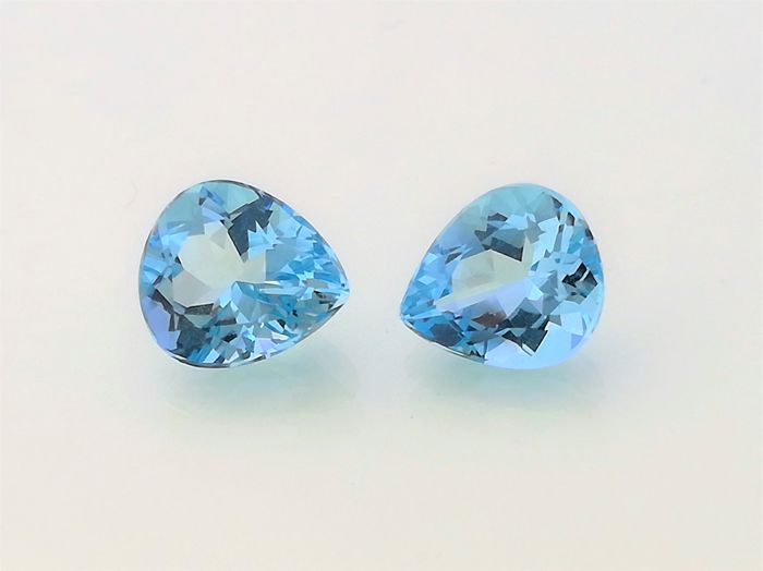 2 Aquamarine - 2.76 ct
