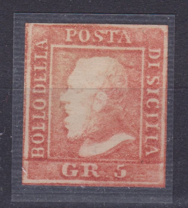 Sicília 1859 - 5 Grana, light vermillion - Sassone N. 10