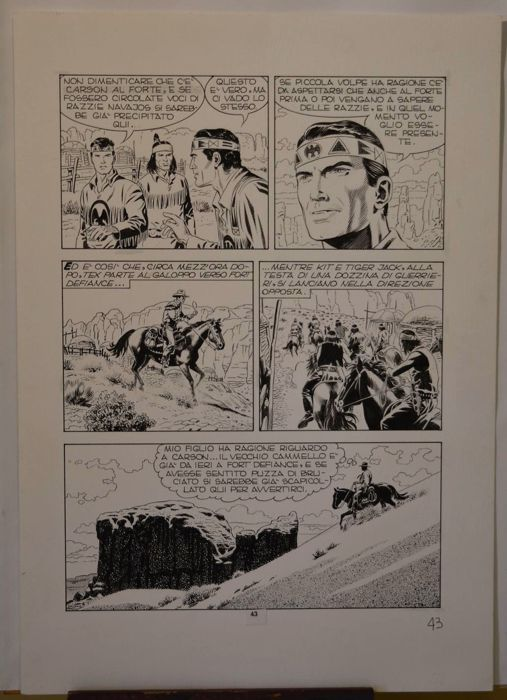 "Tex #475 - F. Civitelli - original page ""Il Presagio"" - Loose page - First edition - (1997)"