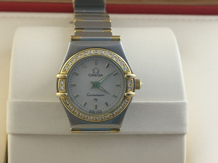 Omega - Constellation Mini Factory 18ct Gold Diamond Bezel - 1267.70.00 - Women - 2000-2010