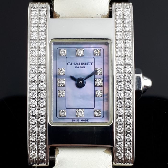 Chaumet - Rectangular Diamond Watch - Ref 121-6841 - Donna - 2000-2010