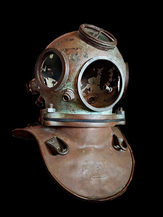 Vintage Dräger diving helmet - Copper, Bronze