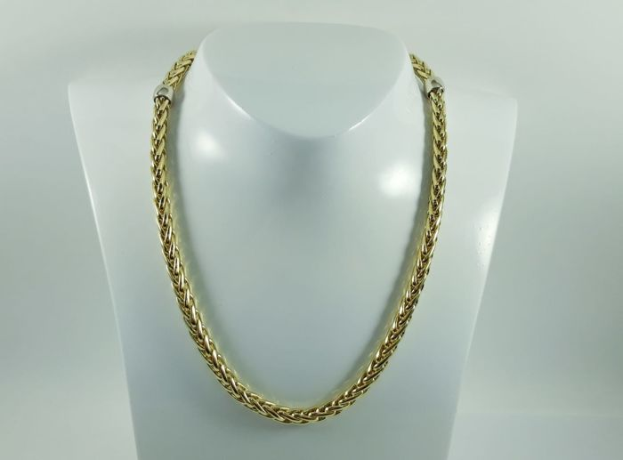 Women's necklace in 18 kt yellow and white gold  Length: 45 cm