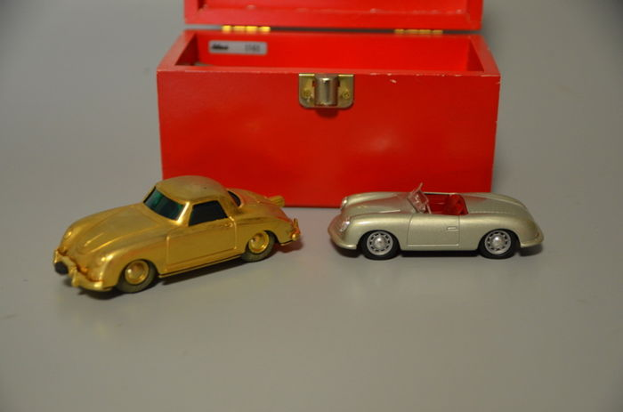 "Decoration - Porsche 356 Micro Racer model car ""50 years - 2000-2000"" (2 items)"