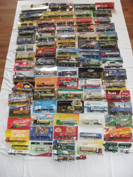 Low-loaders/tank trucks/special models/nostalgia trucks Grell / Hümmer / High Speed - brewery trucks/commercial trucks, XXL trucks, classic cars, - collection of 80 - diecast / plastic