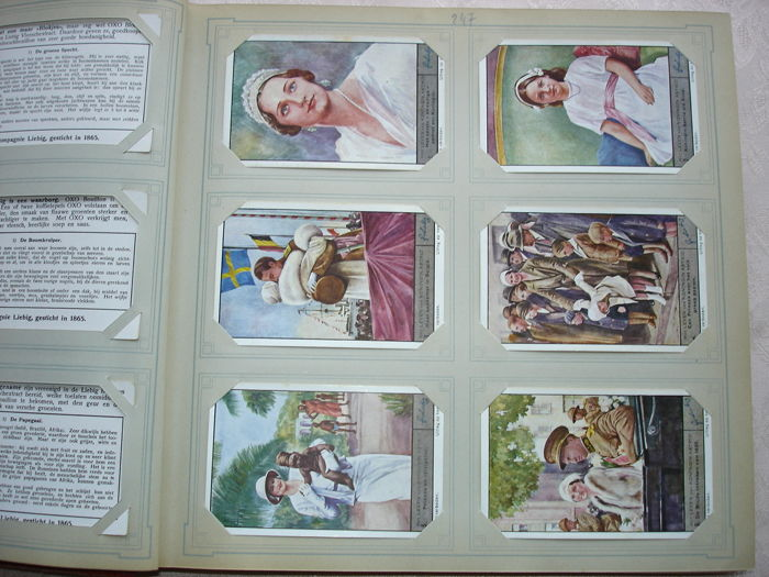 Liebig 2 chromo's albums - 100 Belgian  series between nrs 140 and 299 - 600 older cards - 1930/1939