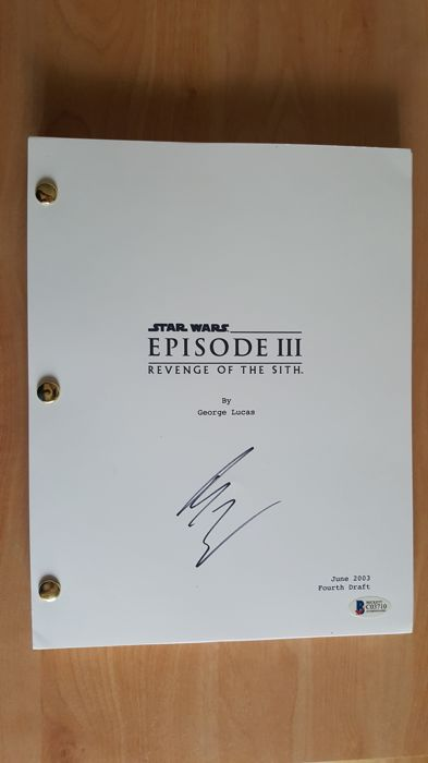 Star Wars Ewan Mcgregor Signed Cover Script With Catawiki
