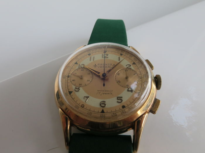 Pronto Verdal Fancy Lugs Chronograph No Reserve Price Men 1950 1959 Catawiki