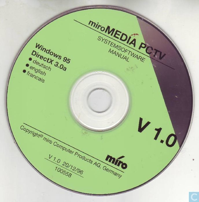 MIRO MEDIA PCTV WINDOWS 7 DRIVER DOWNLOAD