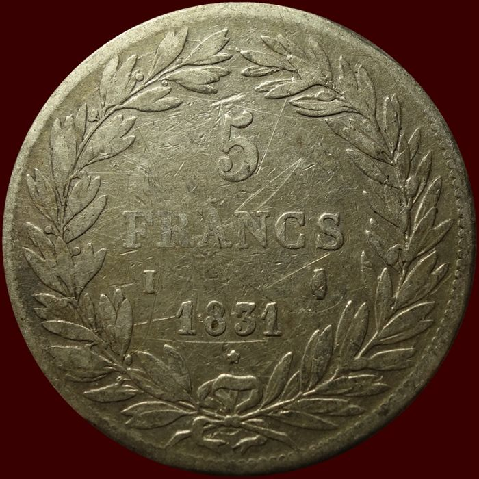 France - 5 Francs 1831-I Louis Phillippe I - Argent