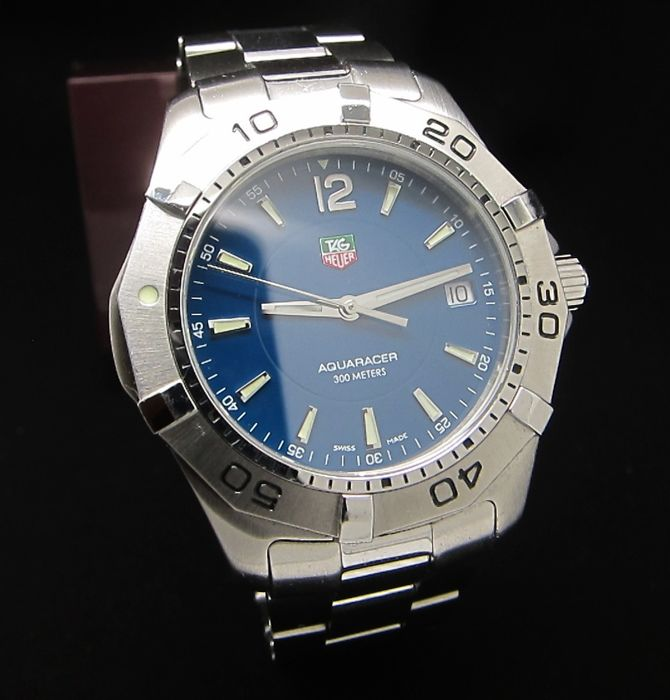 TAG Heuer - 'NO RESERVE PRICE' AQUARACER 300M BLUE DIAL SWISS - WAF1113 - Heren - 2000-2010