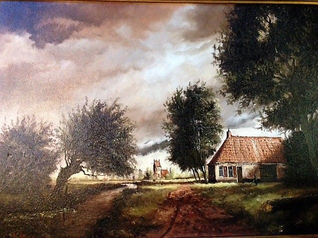 Willem Kroon 1946 - Hollands landschap