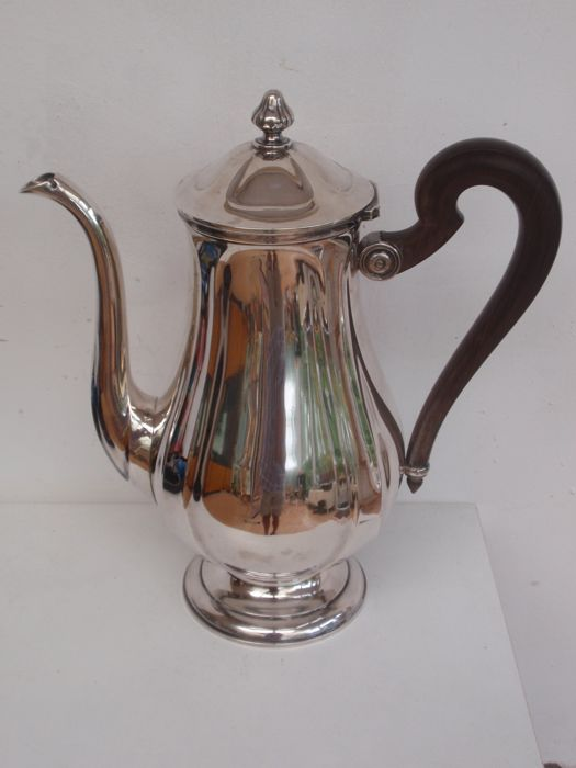 Silver coffee or tea pot - .950 silver - Olier & Caron - France - 1900-1949