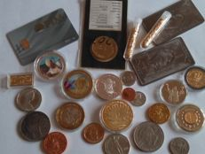 1 gramme gold 999/1000 certifié + 2 bullion titanium 999/1000  + a lot of coin and bullion