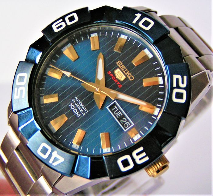 """Seiko - AUTOMATIC 24 Jewels  """"Blue-Gold Dial"""" - nr. ref.: 740374 - Hombre - 2011 - actualidad"""